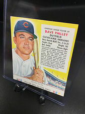 1954 Red Man Tobacco DAVE PHILLEY #9 AL All Star Team w/Tab