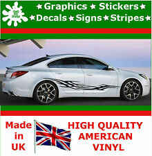 "10"" High Car Side Stripes Graphic Decal Vinyl Stickers Van Auto Rally Race F1_10"