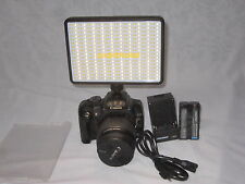 led 320 CALVIN slim Video Light Camera Camcorder Photography  battery & charger