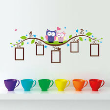 Couple Owl Family Wall Decal Sticker Removable Photo Frame kids baby Room Vinyl