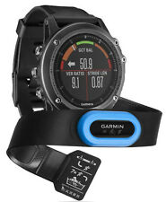 Garmin Fenix 3 HR Sapphire GPS HRM Triathlon (Run + Swim) Strap Multisport Watch