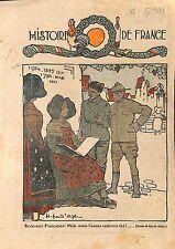 Caricature Alsace Lorraine Histoire de France Soldats Alliées 1918 ILLUSTRATION