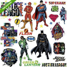 JUSTICE LEAGUE wall stickers 28 decals Superman Batman Flash Green Lantern decor