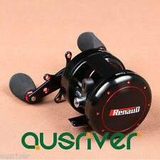 9+1BB Renaud Right Handed Fishing Round Baitcast Reel Drum Fresh/Saltwater 5.3:1