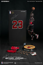 Enterbay 8th Anniversary NBA Michael Jordan #23 Black Jersey 1/6 Figure IN STOCK