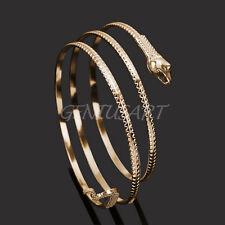 Donna Spirale Braccialetto Bracciale Oro Forma Serpente in Lega Fashion Nuovo