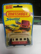 1976 Matchbox Superfast #44 Passenger Coach on card