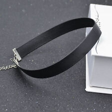 Gothic Leather Women Retro Charm Choker Collar Chain Necklace Punk Jewellery
