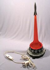 Night-Lamp Old Russian Vintage Epoch Rocket Space Soviet Red USSR CCCP