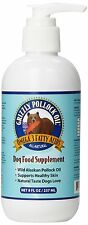 Grizzly Pet Products Pollock Oil Dog Food Supplement Omega 3 Fatty Acids 8z