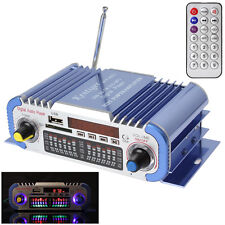 USB SD DVD FM 2-CH HiFi Audio Stereo Radio MP3 Player Car Stereo Power Amplifier