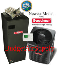 3.5 ton 14 SEER  Goodman HEAT PUMP System GSZ140421+ARUF47D14 New Model!!