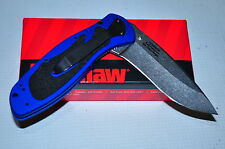 Blur, Navy Blue Stonewashed Kershaw Knife 1670NBSW Made in USA