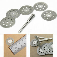5Pcs 22mm  Emery Dremel Tools With A Rod Nice Sharp Rotary Diamond Cutting Disc