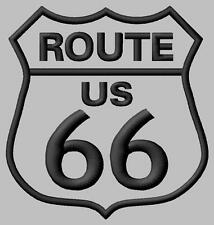 Route 66 US grey Parche bordado Thermo-Adhesiv iron-on patch