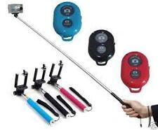 Extendable Self Portraits Selfie Stick Handheld Monopod with Bluetooth Shutter