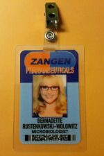 The Big Bang Theory ID Badge- Zangen Bernadette Microbiologist costume cosplay