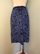 Boden US 12 L Blue Floral Straight Pencil Skirt Excellent Career Cocktail