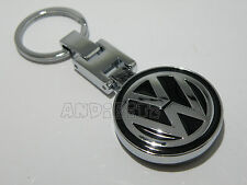 Nero Chrome Key Chain Portachiavi VW Golf Polo Jetta Passat Lupo Fox Sharan AUTO