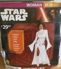 Star Wars Women's Med 8-10 Princess Leia Costume New Halloween Cosplay Disney