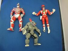 Vintage Mighty Morphin  Power Rangers Lot Jason Red Ranger Lord Zedd Soccadillo