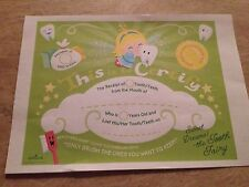 Tooth Fairy Certificate Green A4