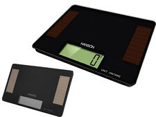 HANSON 5KG SOLAR DIGITAL LCD KITCHEN WEIGHT WEIGHING POSTAL PARCEL SCALE BLACK