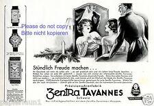 Präzisionsuhren Zentra Tavannes Reklame von 1930 Uhr Schweiz Weihnachten +
