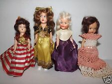 Vintage Small Hard Plastic Dolls Clothes 2 Eyes Open 2 Eyes Painted Group 6