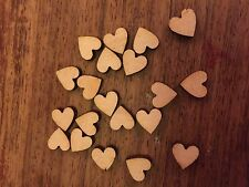 20 x Wooden Mini LOVE HEARTS EMBELLISHMENT Craft Card Scrapbook Art