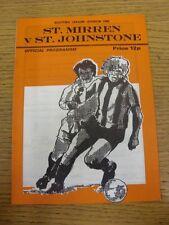 11/12/1976 St Mirren V St Johnstone [pospuesto]. gracias por ver este artículo,