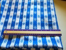 "Country blue & white floral check cotton tablecloth fabric-37"" by 56"""