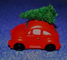 Christmas Dept 56 Red VW Car 1990's Christmas Villages/Cars
