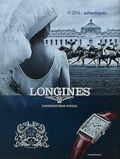 PUBLICITE LONGINES MONTRE CHRONOMETRE PRIX DE DIANE COURSE DE 2016 FRENCH AD PUB