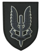 SAS Special Air Service PVC Rubber Badge Military Tactical Patch Hook airsoft