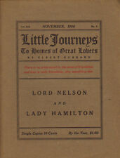 Lord Nelson / Hamilton 1906 Little Journeys To the Homes of Great Lovers Hubbard