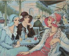 Counted Cross Stitch ART DECO LADIES in Paris - COMPLETE KIT  #27vc-119