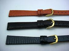 3 Band Lot of Leather Com-Fit Ladies Vintage Tan Brown Black Watch Bands 14mm