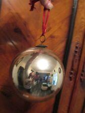 grosse boule de Noël  boule de pardon verre soufflé mercurisé églomisé XIXe