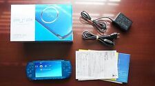 PlayStation Portable PSP-3000 Vibrant Blue Console boxed Japan system US Seller