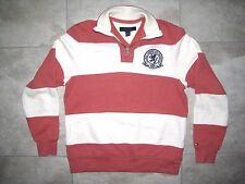 Vintage TOMMY HILFIGER Rugby Knit Polo Pink Stripe Shirt USED Extra Small XS
