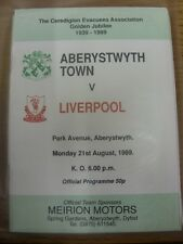 21/08/1989 Aberystwyth Town v Liverpool [Ceredigion Evacuees Golden Jubilee] . I