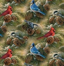 Bird Watching Anti-Pill Fleece Fabric By The Yard