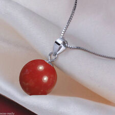 Rare Huge 16MM Natural Genuine South Sea Shell Pearl Round Pendant Necklace