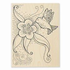 LAUREL BURCH Hummingbird Blosso Wood Mounted Rubber Stamp Stampendous LBR003 NEW
