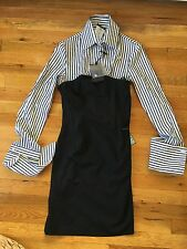 NEW With Tags GF Ferré Gianfranco Ferre Bustier With Shirt Dress Size 26/40