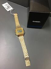 Casio Retro Classic Digital Watch In Gold adjustable strap A168WG-9EF UK Seller