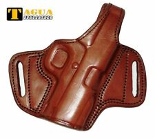 "MRI Desert Eagle 1911U OWB Holster 3"" Brown Leather Belt Right BH1-207"