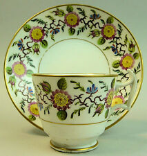 A FINE ANTIQUE NEW HALL PORCELAIN COFFEE CUP & SAUCER  C.1810