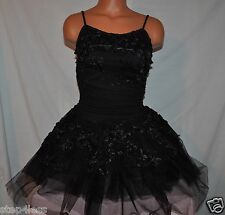 New Marcea Adult Medium attached  Leotard Black TuTu Performance Dress ballroom
